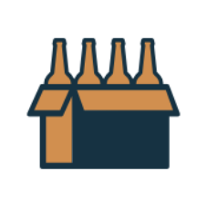 Beer logo with background